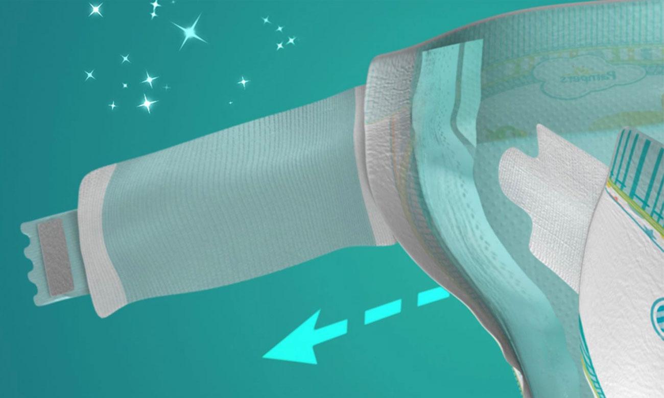 Pampers elastyczne boczki