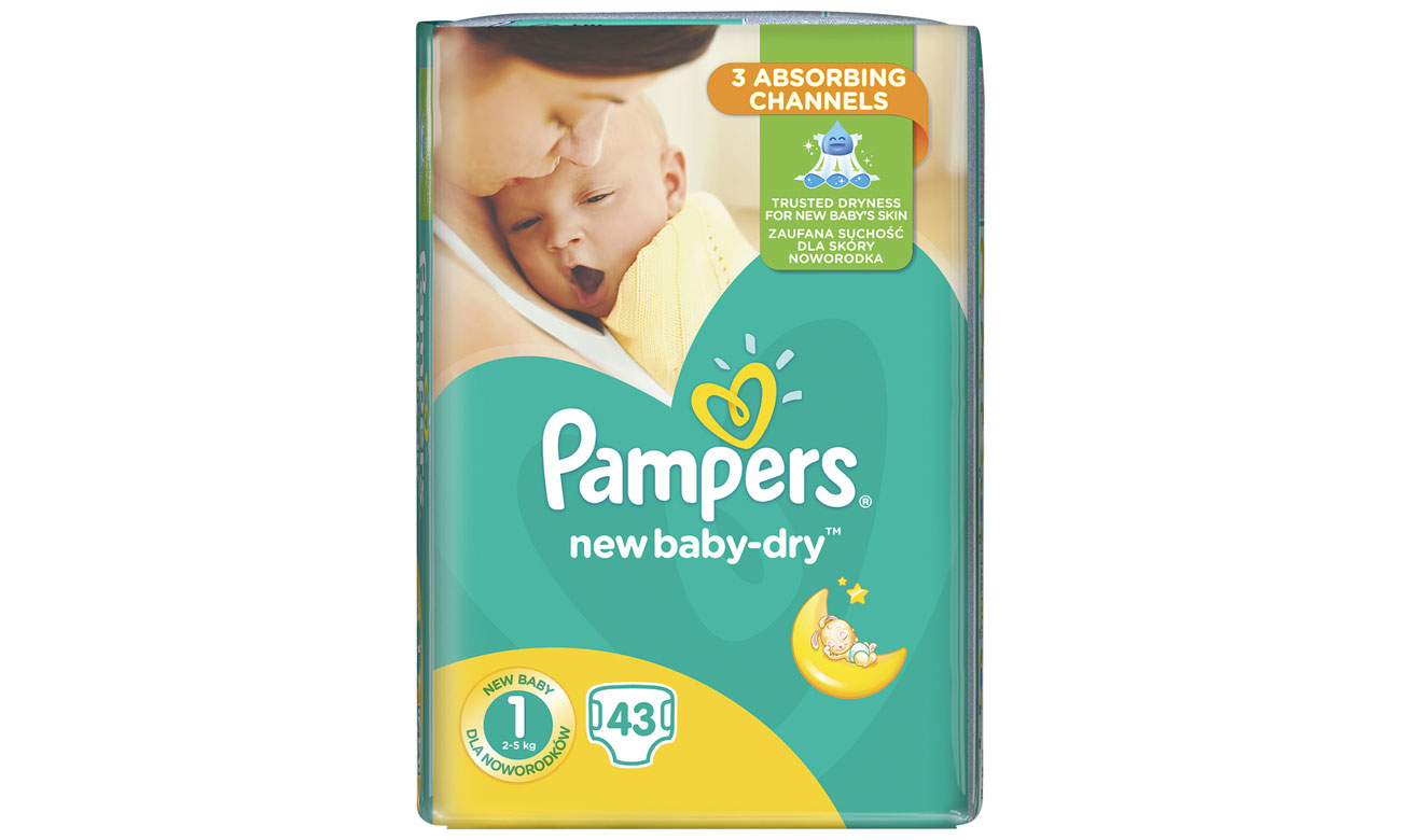 Pampers New-Baby Dry 1 Newborn 2-5 kg 43 szt.