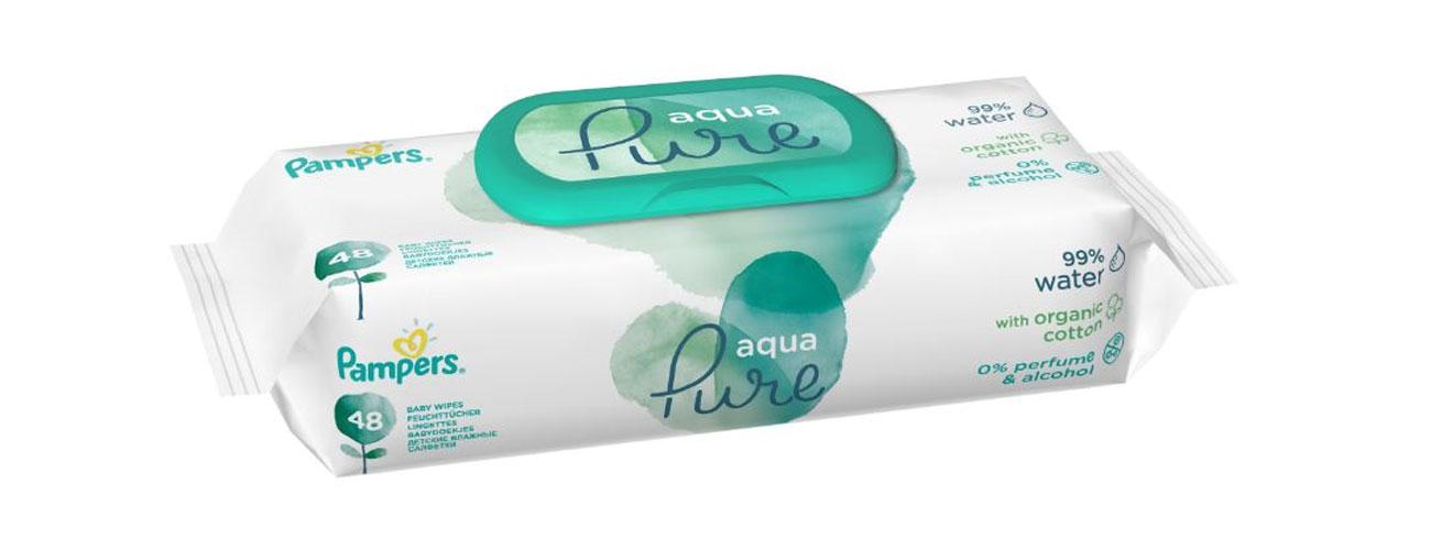 Pampers Chusteczki nasączone wodą Aqua Pure 48 szt.