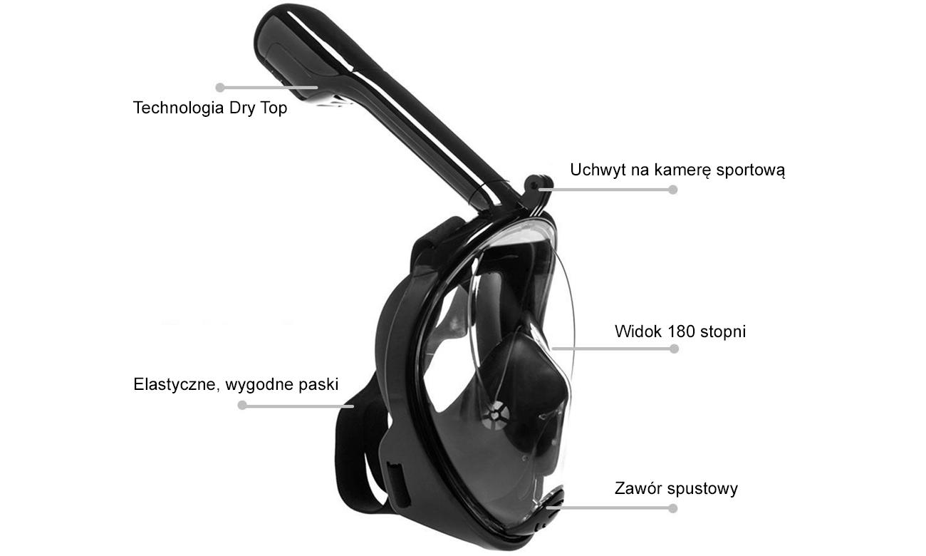 maska do nurkowania i snorkelingu dla dzieci