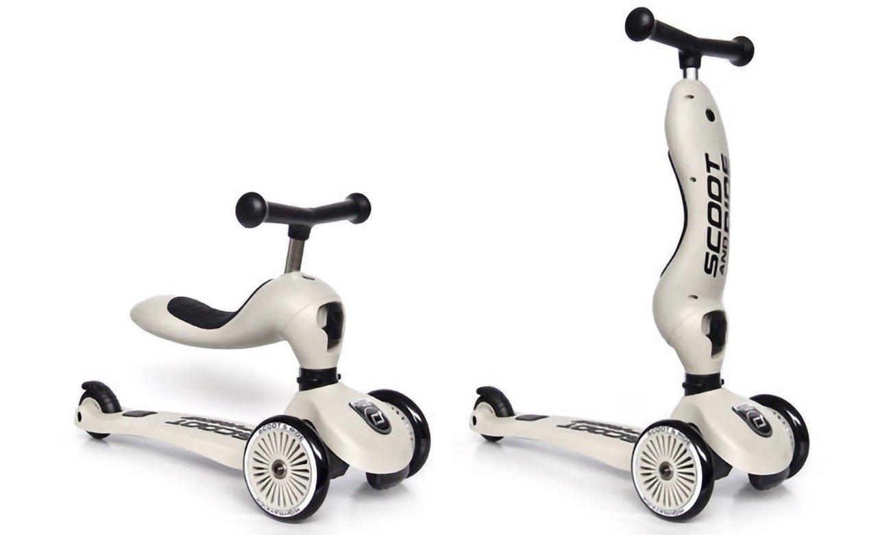 Scoot & Ride Highwaykick 1 Jeździk i hulajnoga 2w1 Ash