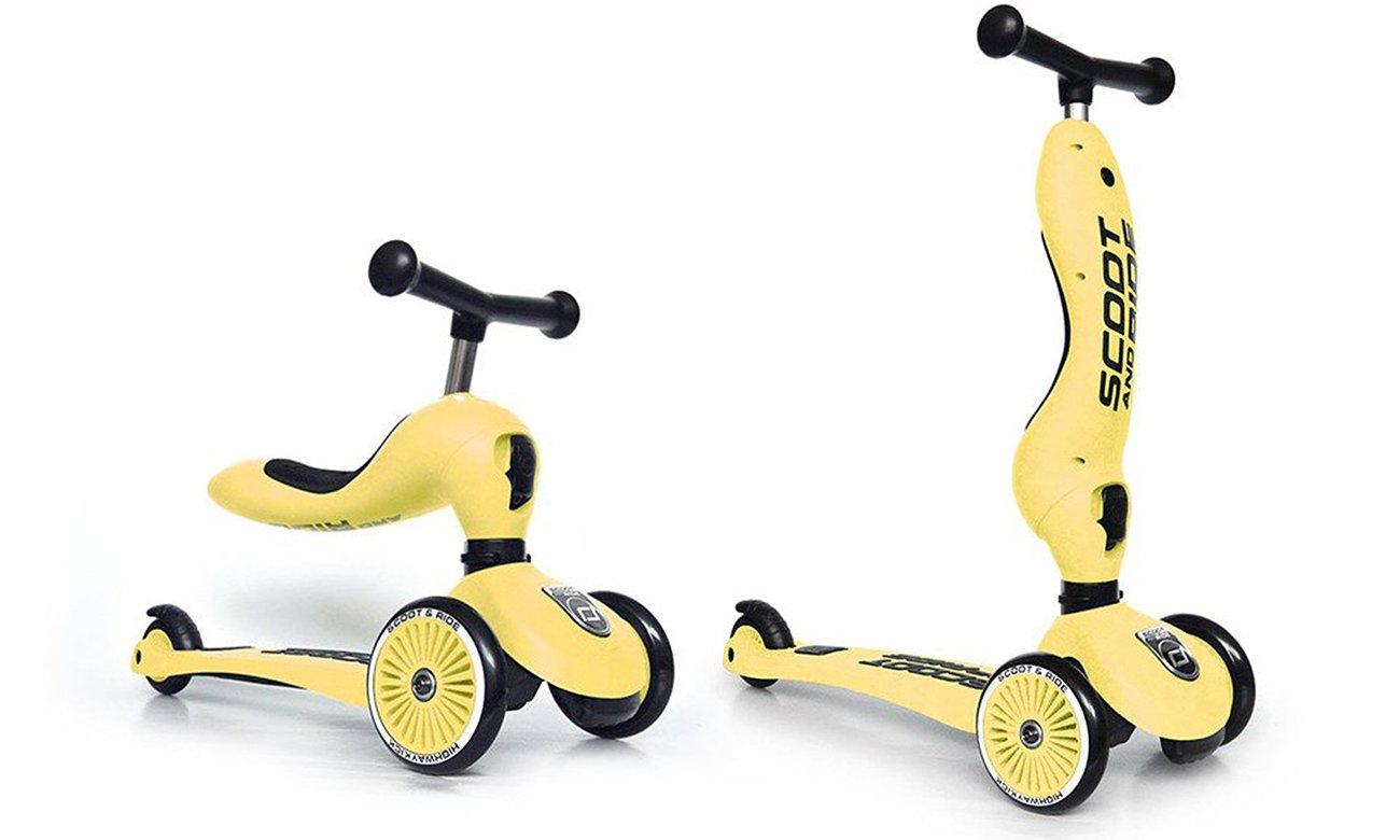 Scoot & Ride Highwaykick 1 Jeździk i hulajnoga 2w1 Lemon