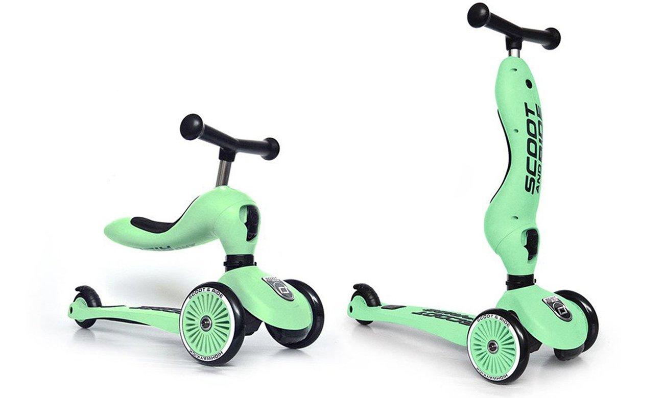 Scoot & Ride Highwaykick 1 Jeździk i hulajnoga 2w1 Kiwi