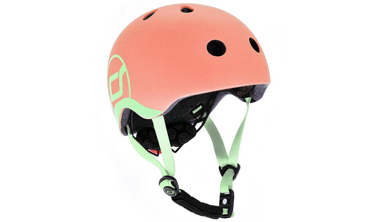 Scoot & Ride Kask Ochronny XXS-S dla dzieci 1-5lat Peach