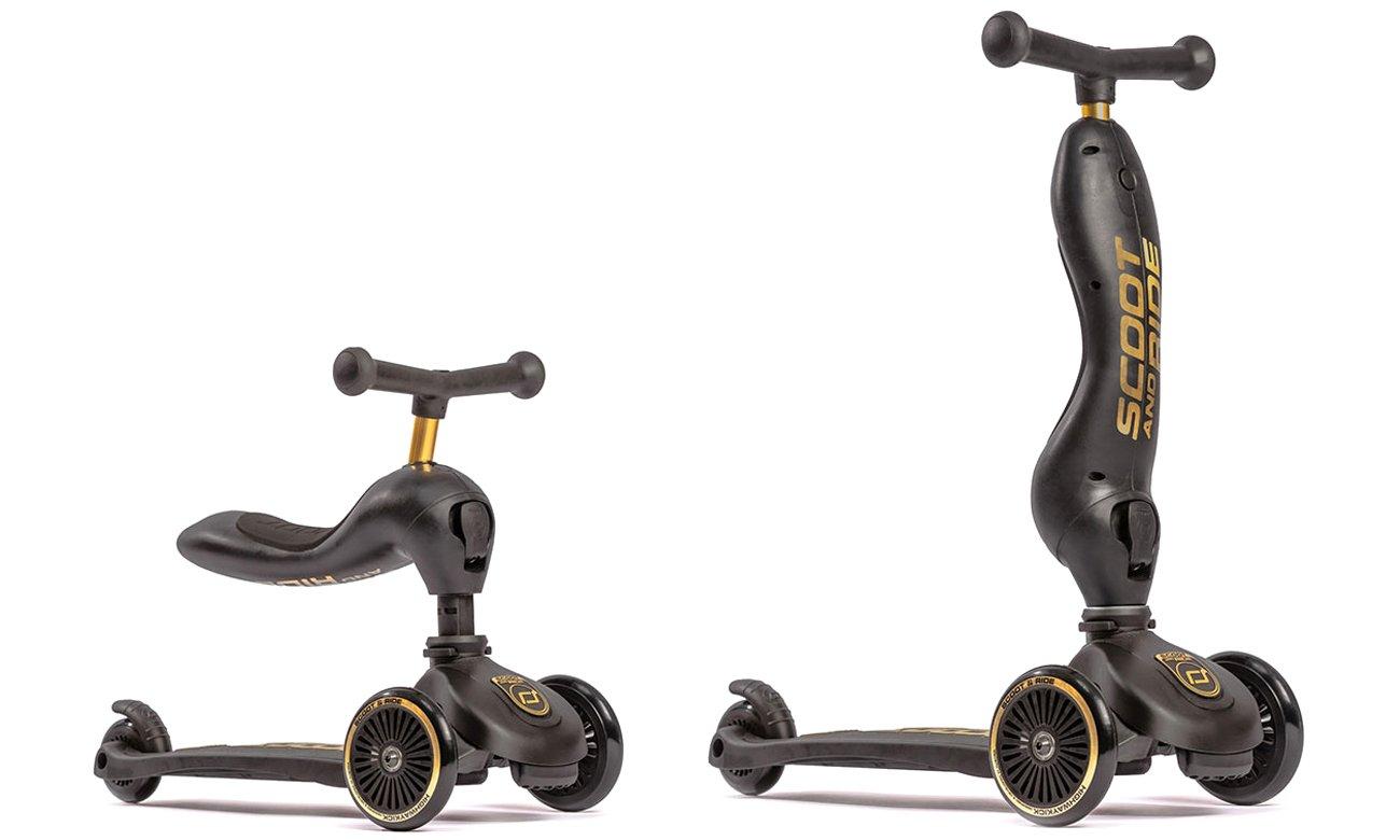 Scoot & Ride Highwaykick 1 Jeździk i hulajnoga 2w1 Gold