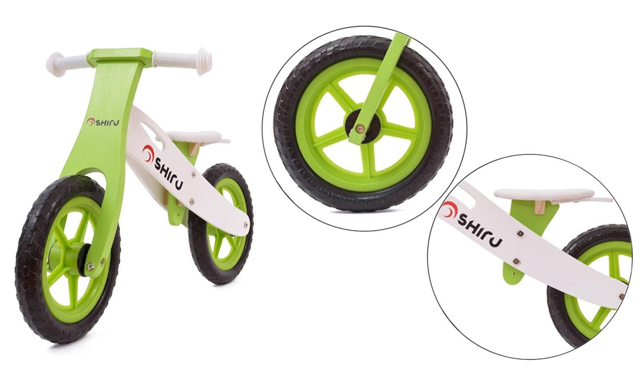 SHIRU Rowerek biegowy zielony