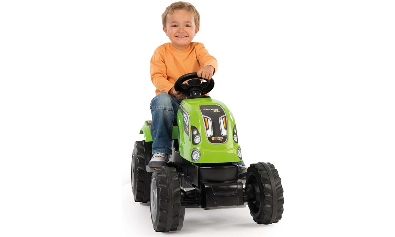 smoby traktor farmera XL z przyczepą