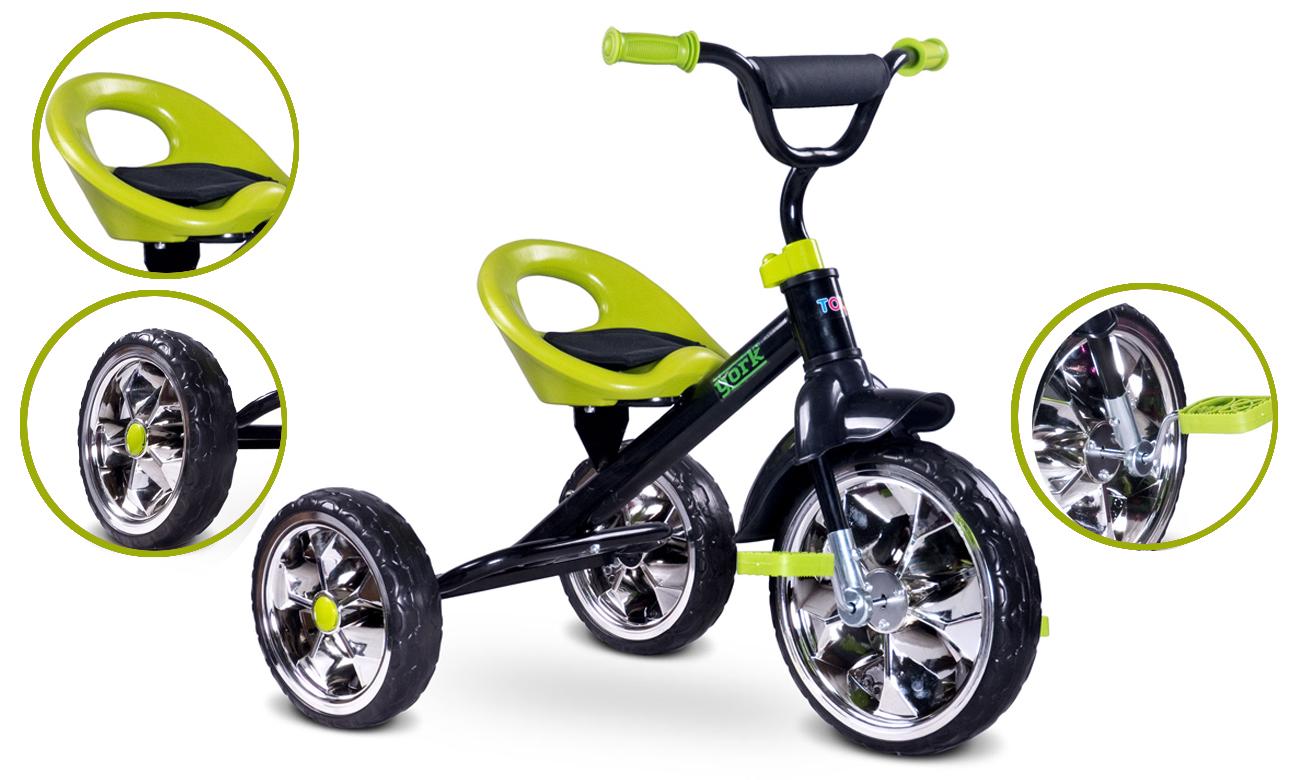 Rowerek trójkołowy York zielony