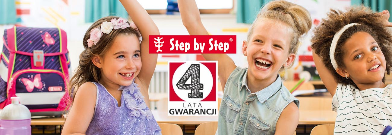 Step by Step - 4 lata gwarancji na tornistry