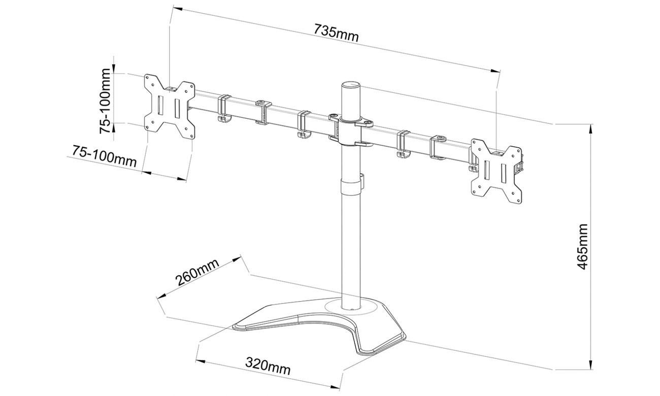 Uchwyt do monitorów z standartem VESA ART L-21N