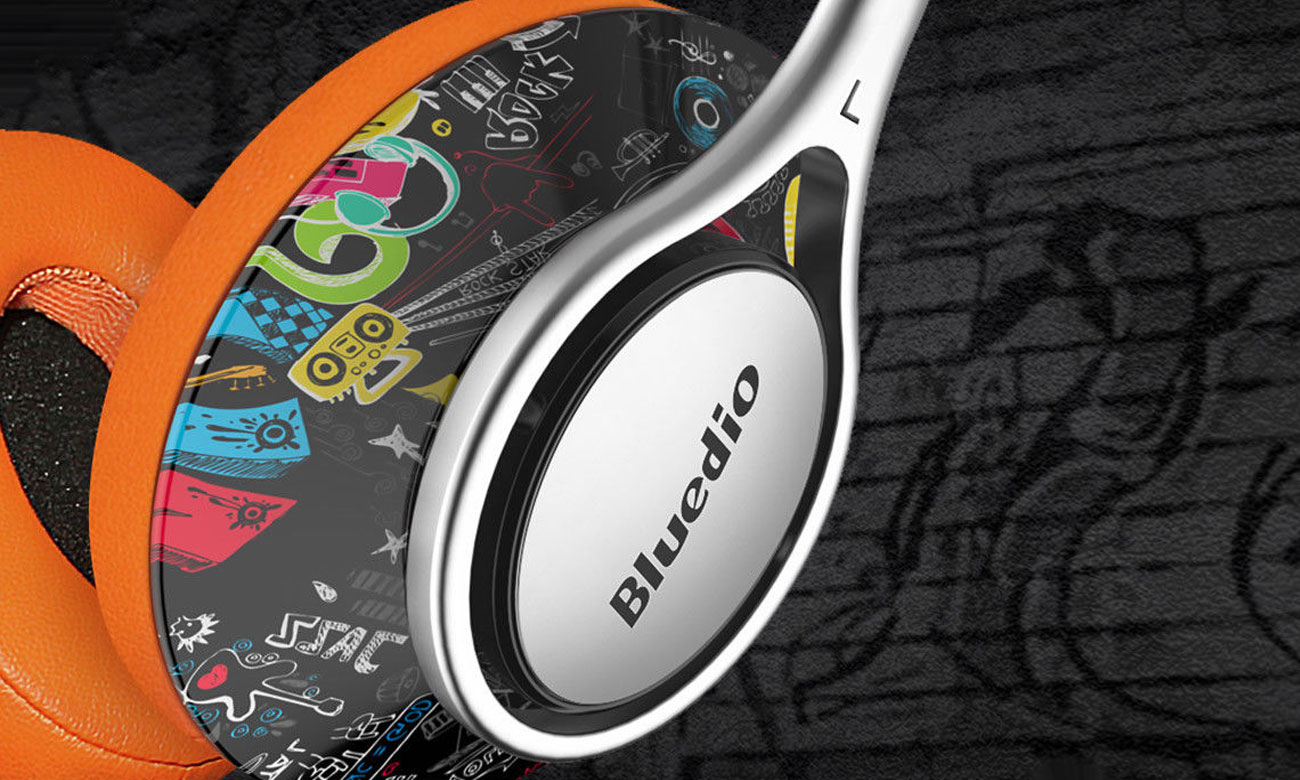 Stylowe słuchawki Bluedio A2 Doodle