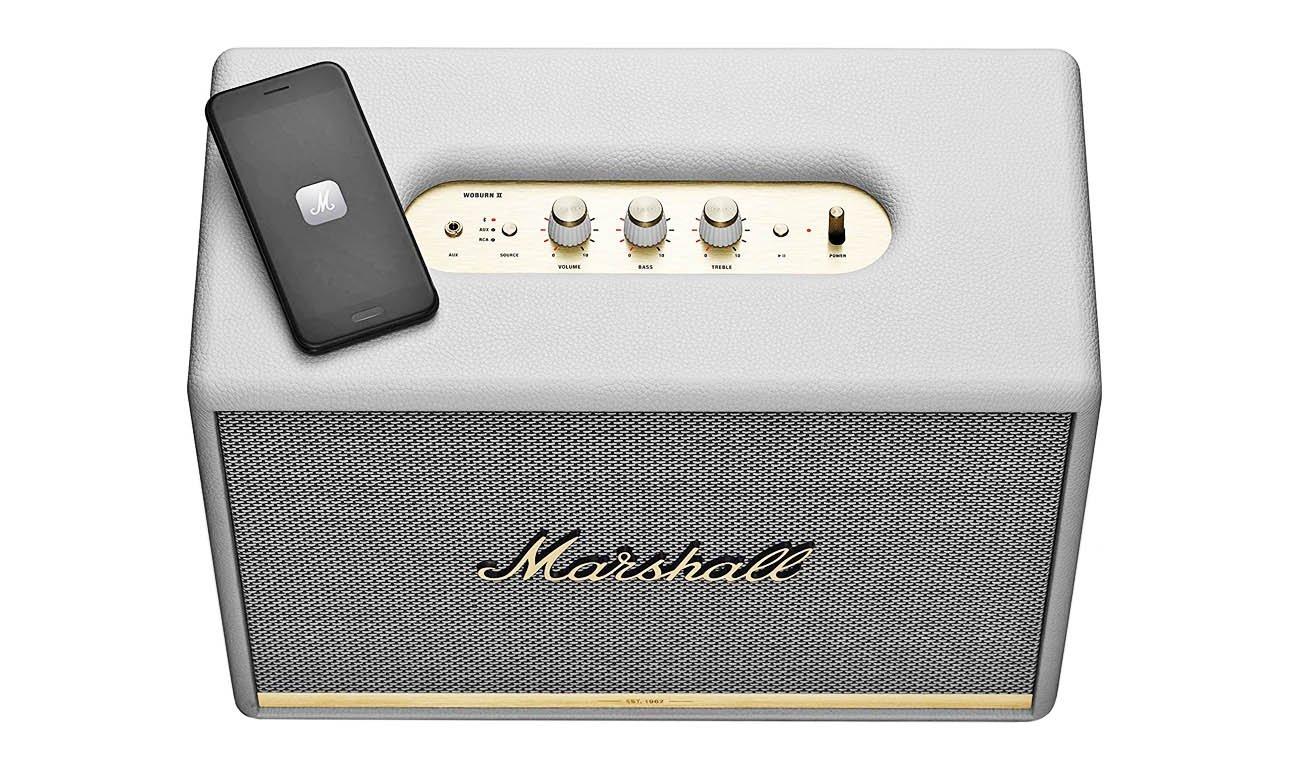 Głośnik bluetooth Marshall Woburn biały z wejściem RCA oraz 3,5 mm