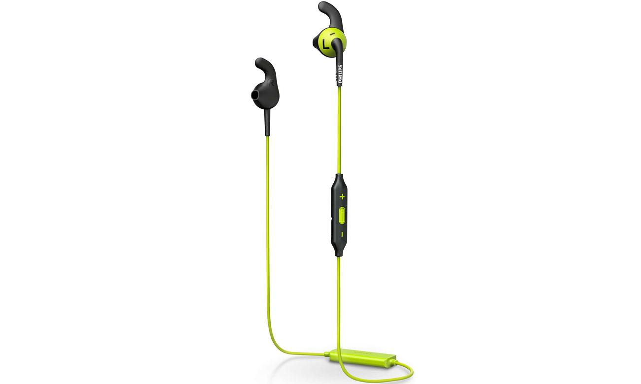Słuchawki bezprzewodowe Philips SHQ6500CL Czarno-Limonkowe