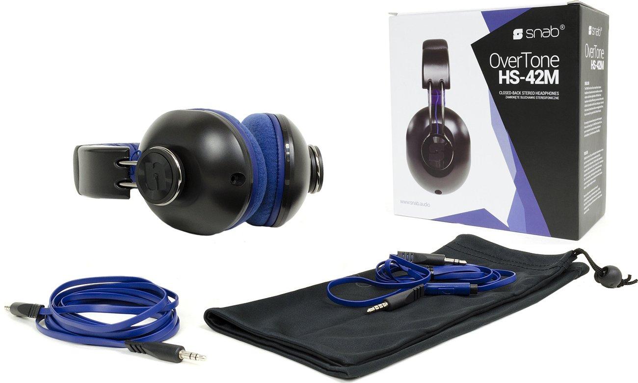 Zawartość opakowania słuchawek Snab Overtone HS-42M