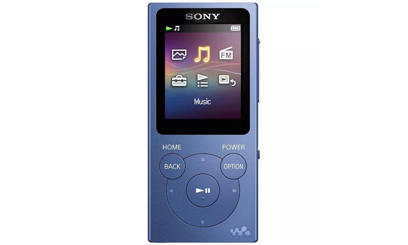 Odtwarzacz audio Sony Walkman NW-E393 niebieski