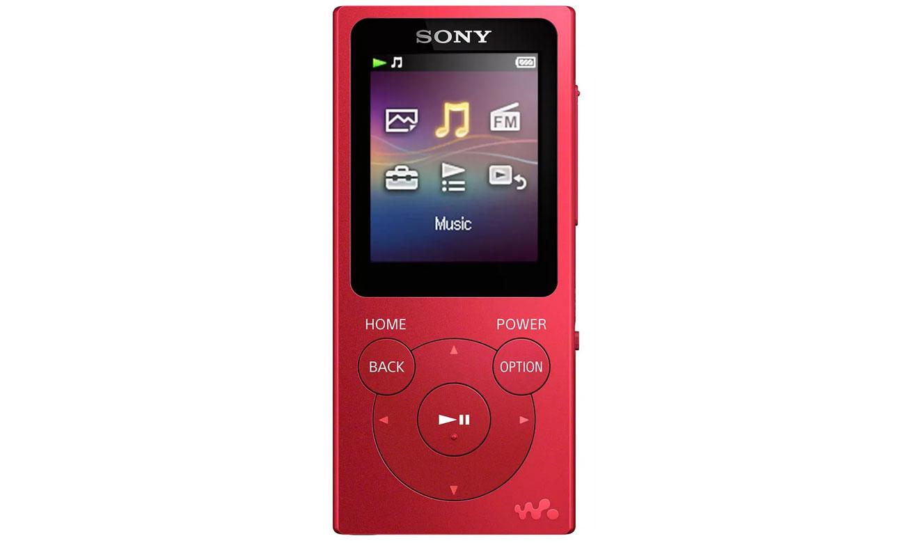 Odtwarzacz audio Sony Walkman NW-E393 czerwony