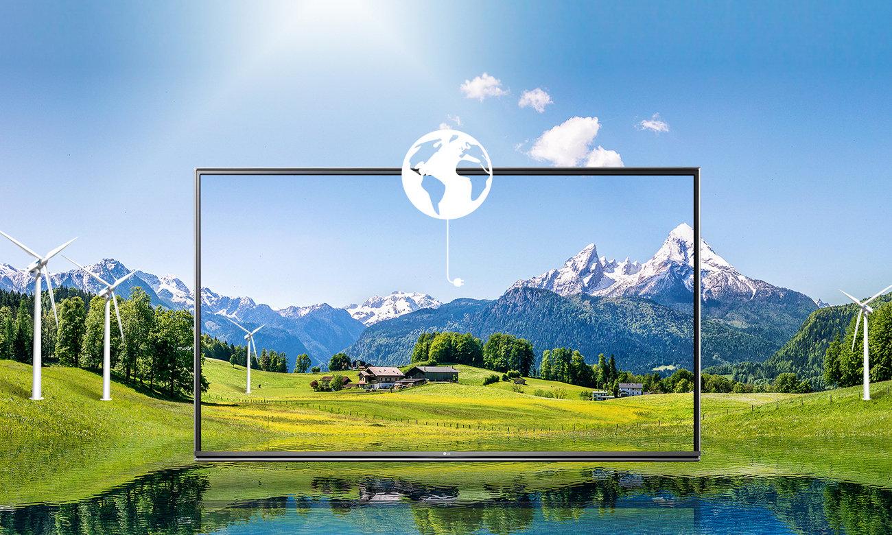 Wysoka kasa energetyczna A++ telewizora LG 43LH570V