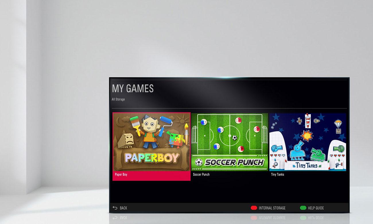 Telewizorz LG 49LJ515V z dostępem do gier
