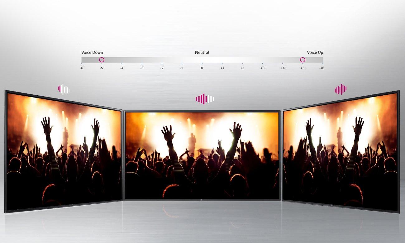 Funkcja Clear Voice w telewizorze LG 49UH603V