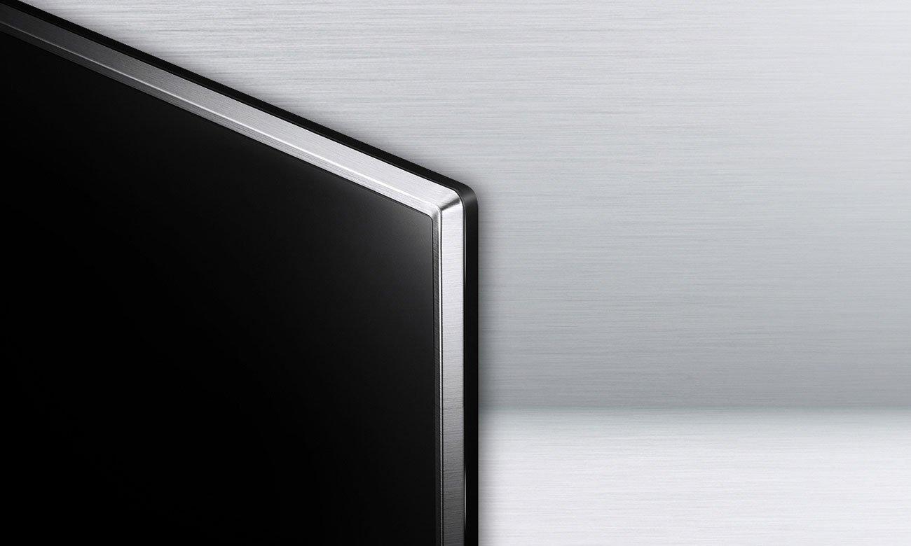 Eleganckie wzornictwo dużego telewizora LG 49UJ6517