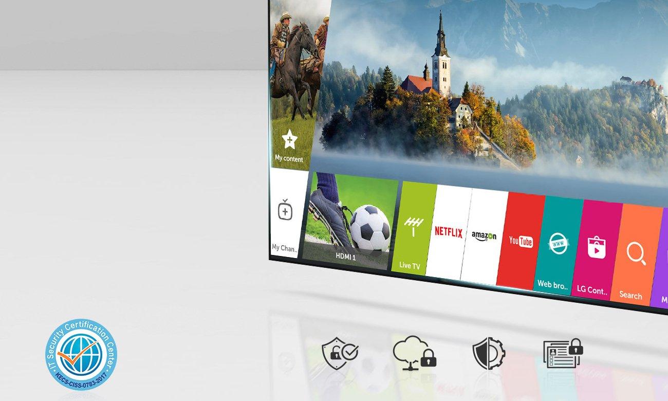 Telewizor 49UJ6517 z niezawodnym systemem LG webOS