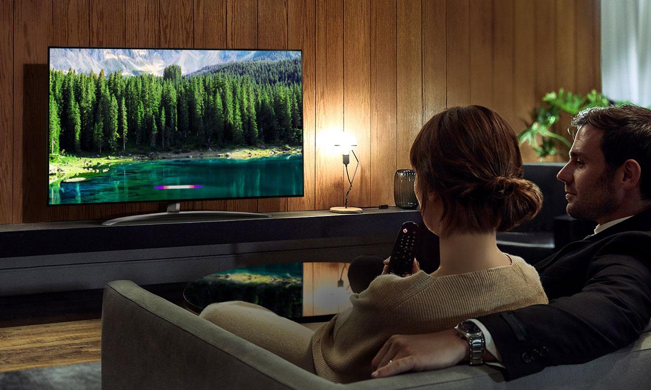 Sztuczna inteligencja w telewizorze LG 55SM8500 AI