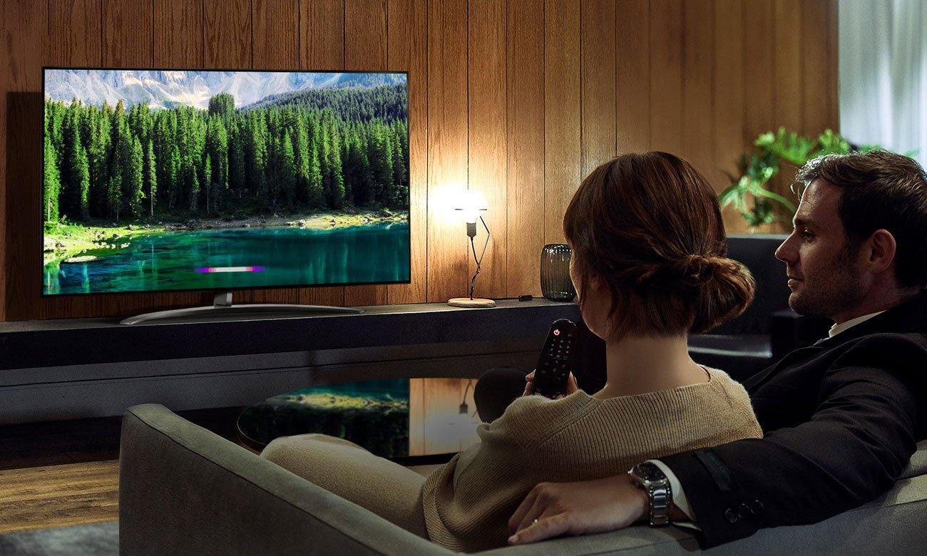 Sztuczna inteligencja w telewizorze LG 55SM8600 AI