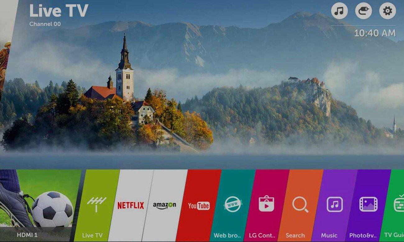 Telewizor LG 55UJ6307 z nowym systemem webOS 3.5