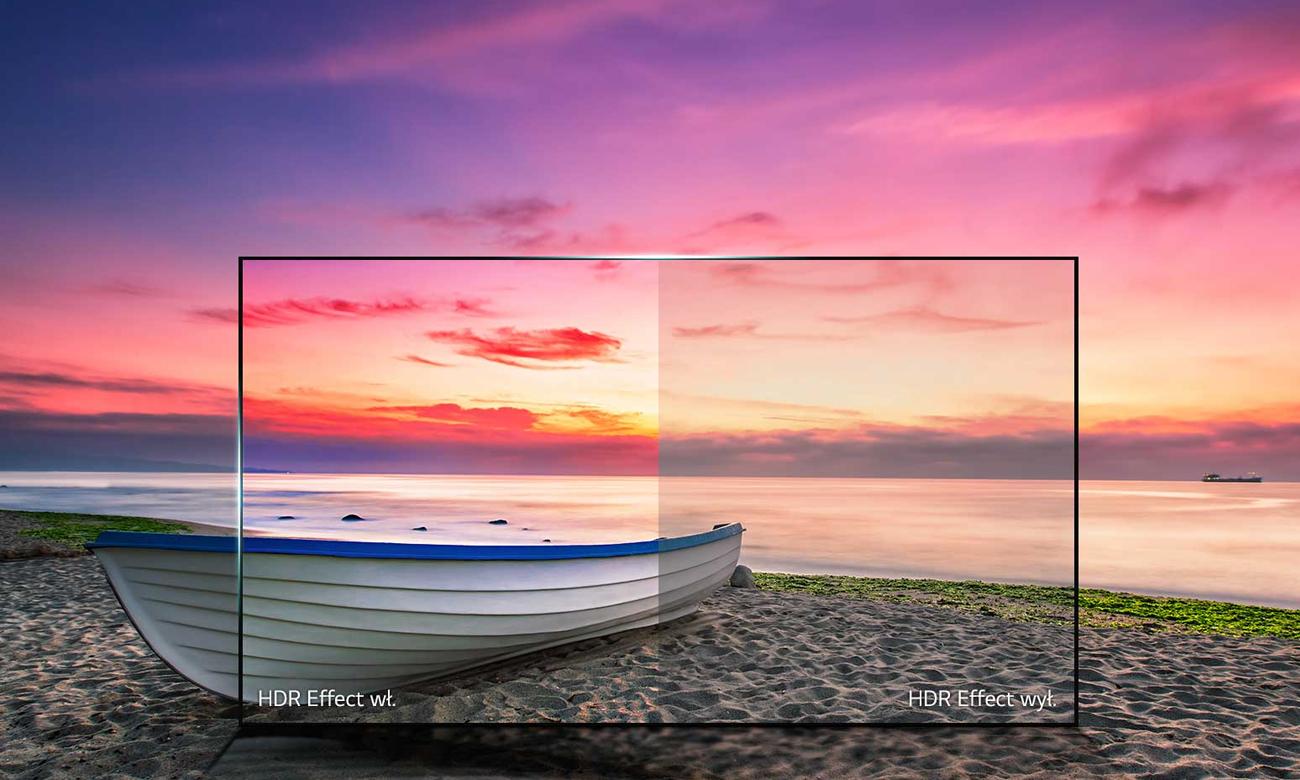 Wysoka jakość obrazu HDR na ekranie LG 60UJ6307