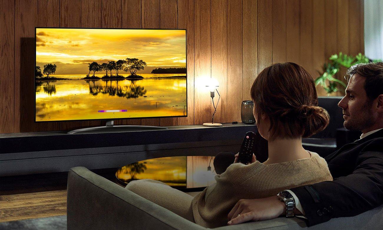 Sztuczna inteligencja w telewizorze LG 65SM9010 AI