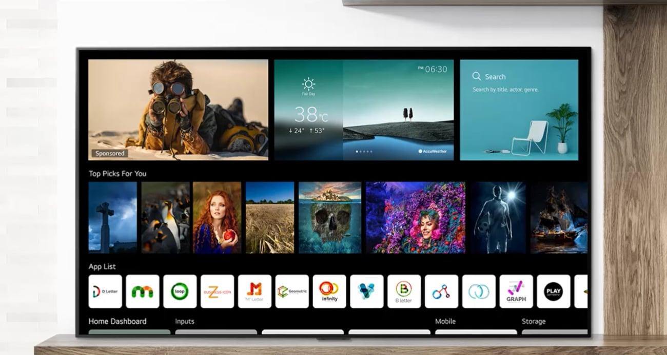 Sztuczna inteligencja w telewizorze LG OLED65C12LA AI