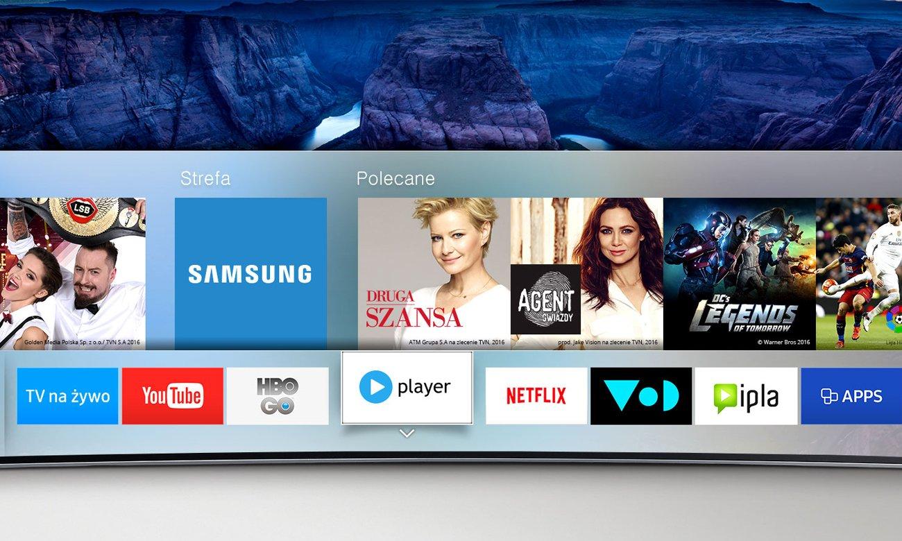 Aplikacja Samsung Smart Hub w TV Samsung UE55K6300
