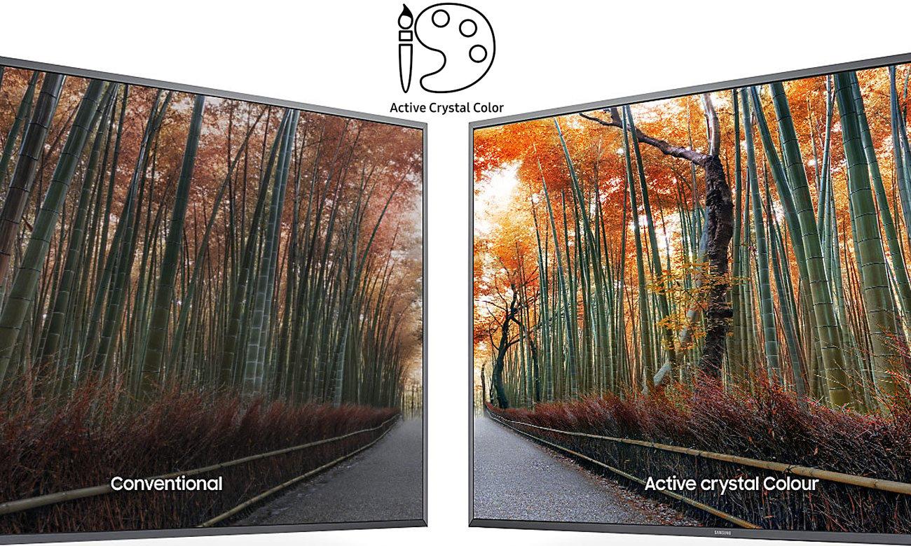 Technologia Active Crystal Colour w telewizorze Samsung UE40KU6400