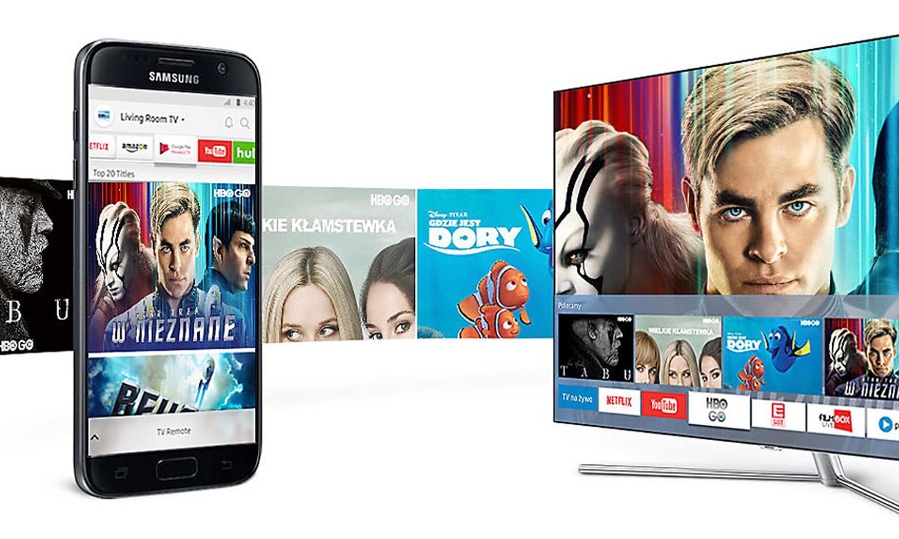 Łączność telewizora Samsung UE55MU7002 z smartfonem
