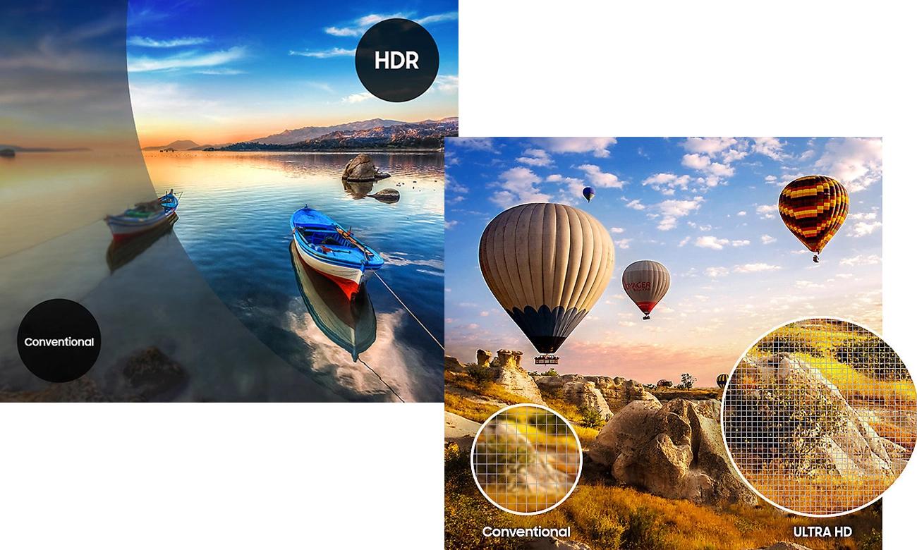 Technologia HDR w telewizorze Samsung UE65MU6402