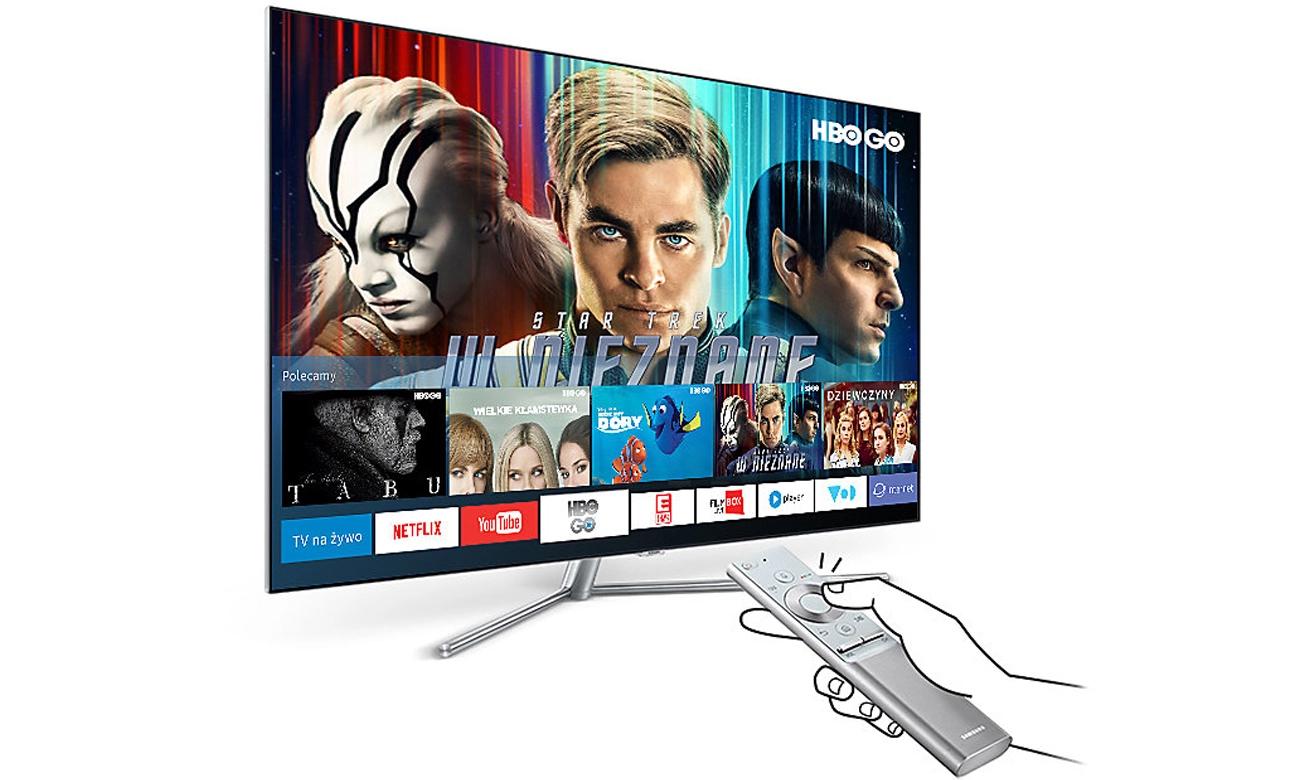 Aplikacja Samsung Smart Hub w TV Samsung UE65MU6402