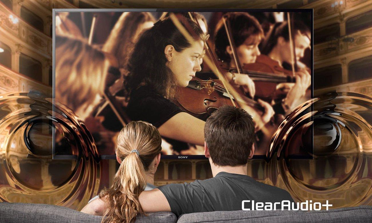 System dźwięku Clear Audio+ w tv Sony KD-49XD7005