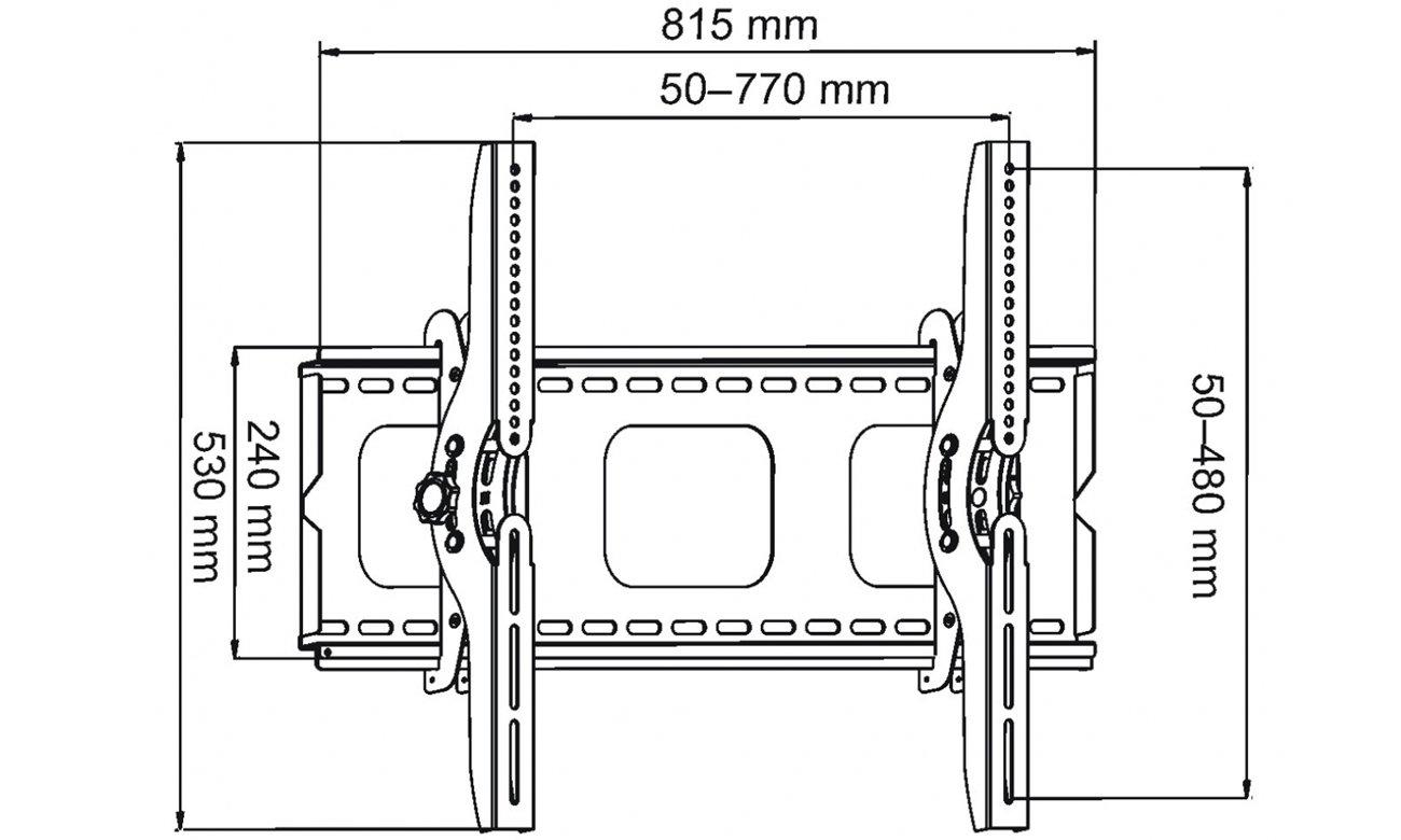 Uchwyt do dużych tv z standartem VESA 700x400 ART AR-08