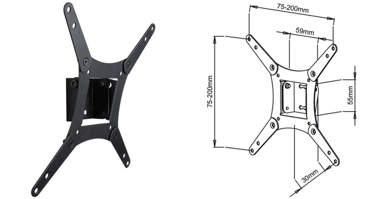Uchwyt do TV ART AR-58 17- 32 20 kg regulacja pionowa standard VESA