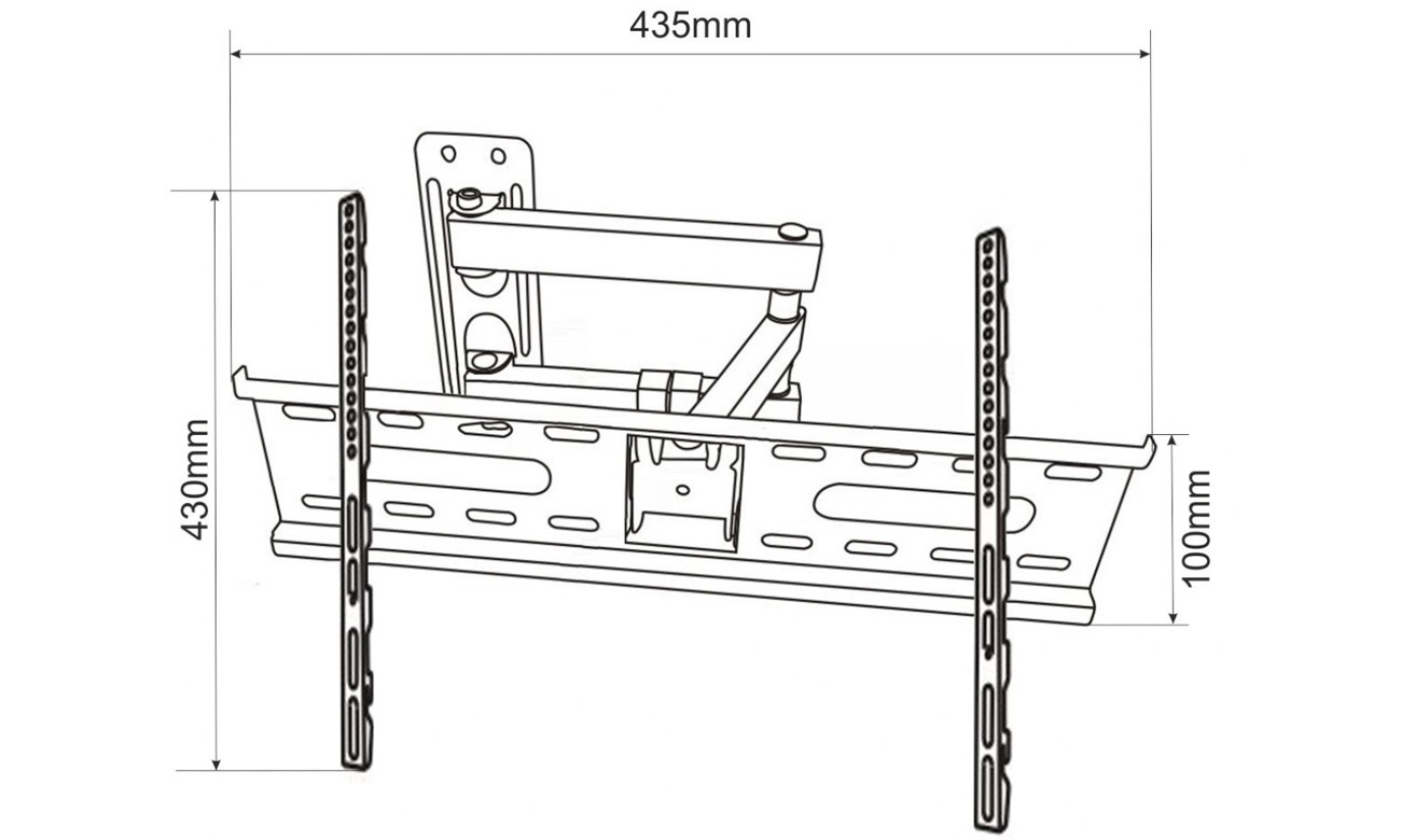 Uchwyt do TV ART CV-23 23- 55 25 kg regulacja pionowa standard VESA