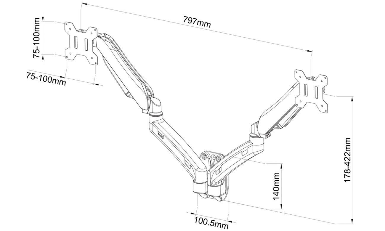 ART L-14GW mocowanie VESA
