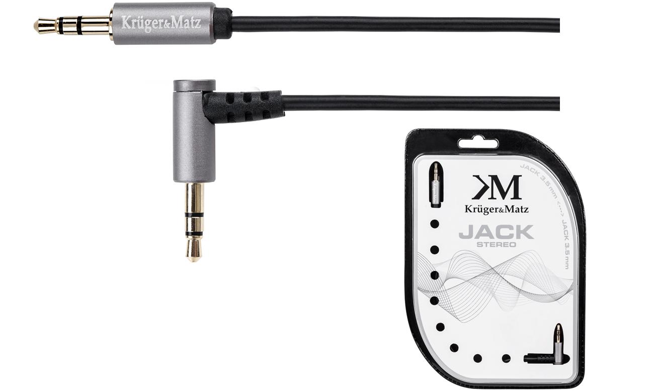 Kabel Kruger Matz Wtyk kątowy wtyk prosty Jack 3,5mm stereo 3,0 m KM0314
