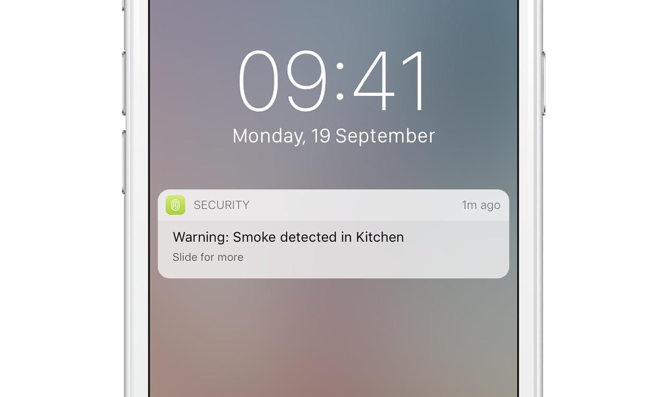 Powiadomienia na smarfonie o zagrożeniu z NetAtmo Smart Smoke Alarm
