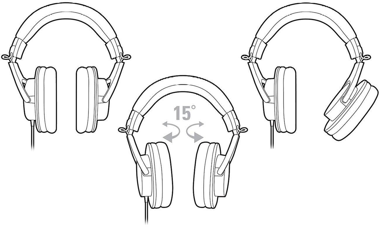 Wygodne słuchaweki wokółuszne ATH-M20X Audio-Technica