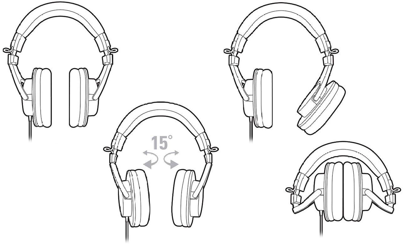 Wygodne słuchaweki wokółuszne ATH-M30X Audio-Technica