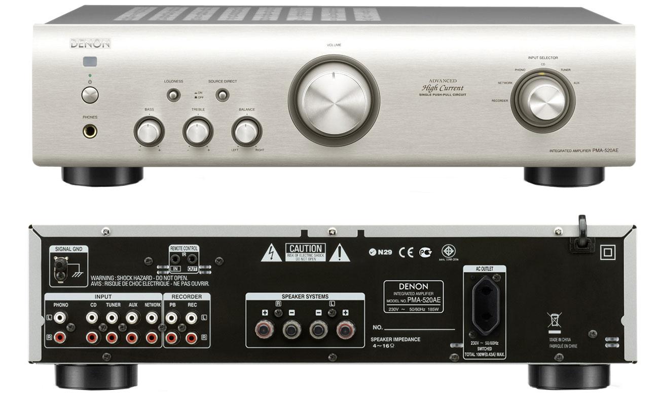 Wzmacniacz Denon PMA-520AE Premium Silver