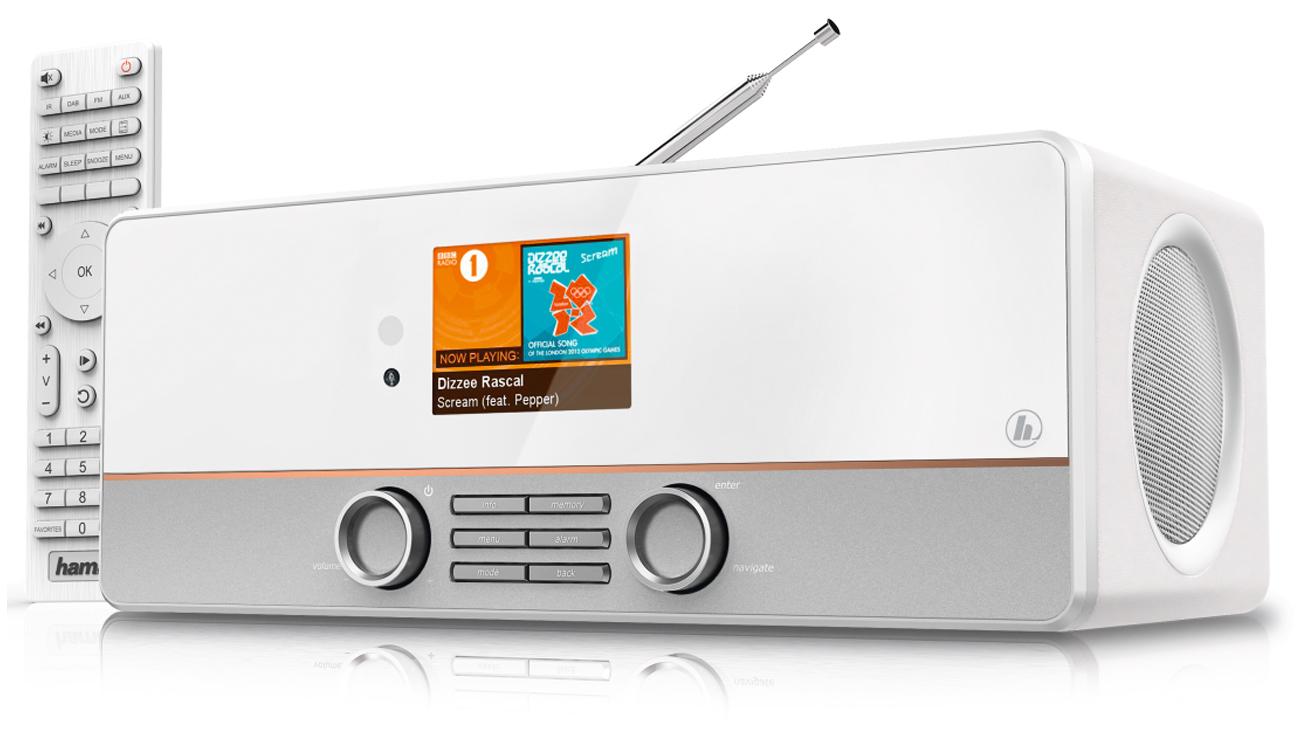 Hybrydowe radio Wi-Fi DIR3115MS Hama białe