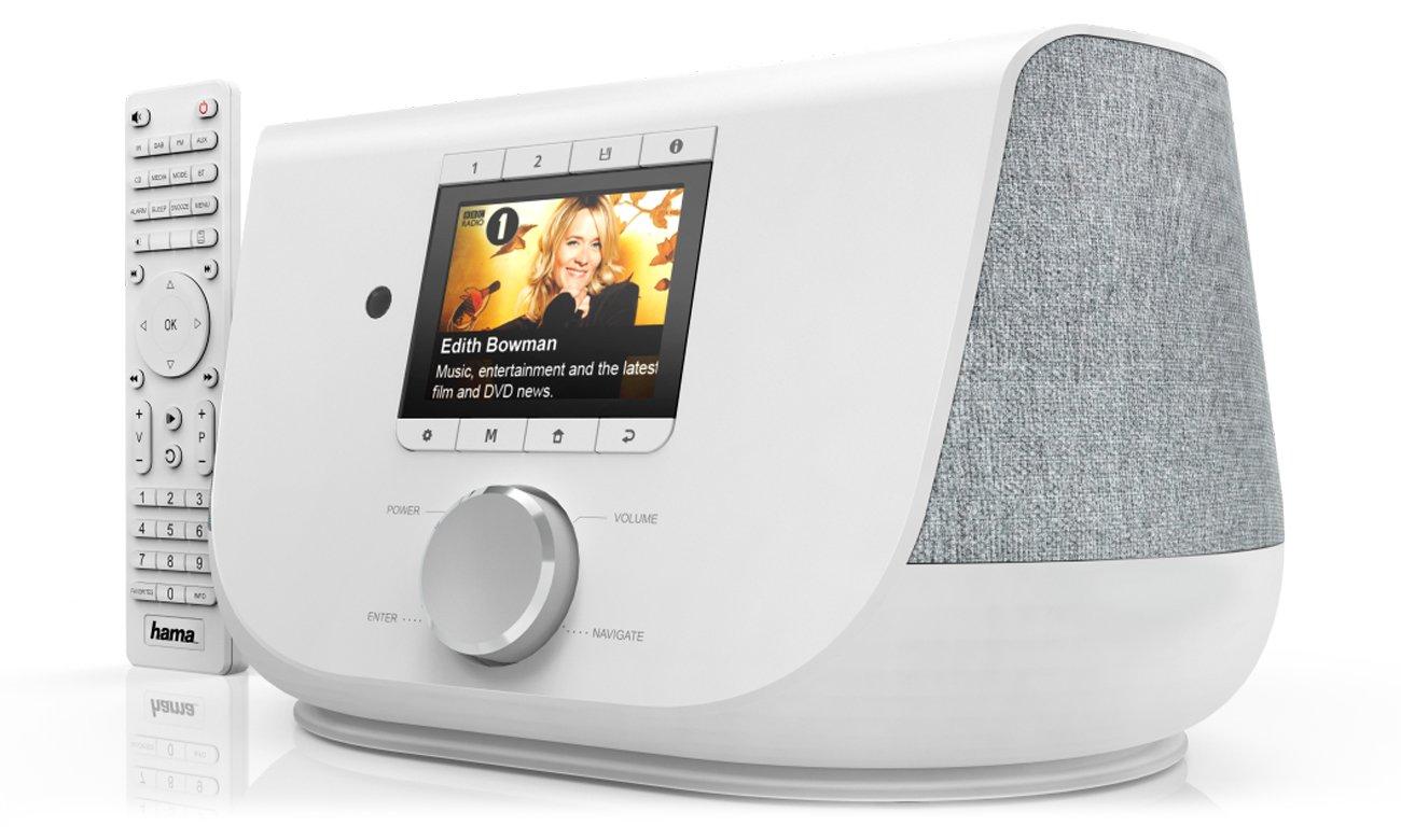 internetowe radio Wi-Fi DIR3300SBT Hama białe