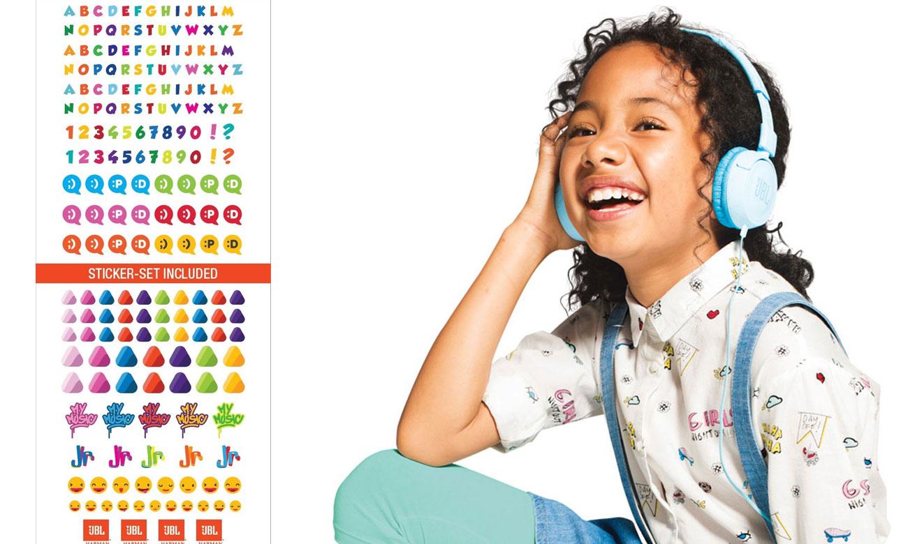 Wytzrymałe słuchawki dla dzieci JBL JUNIOR JR300