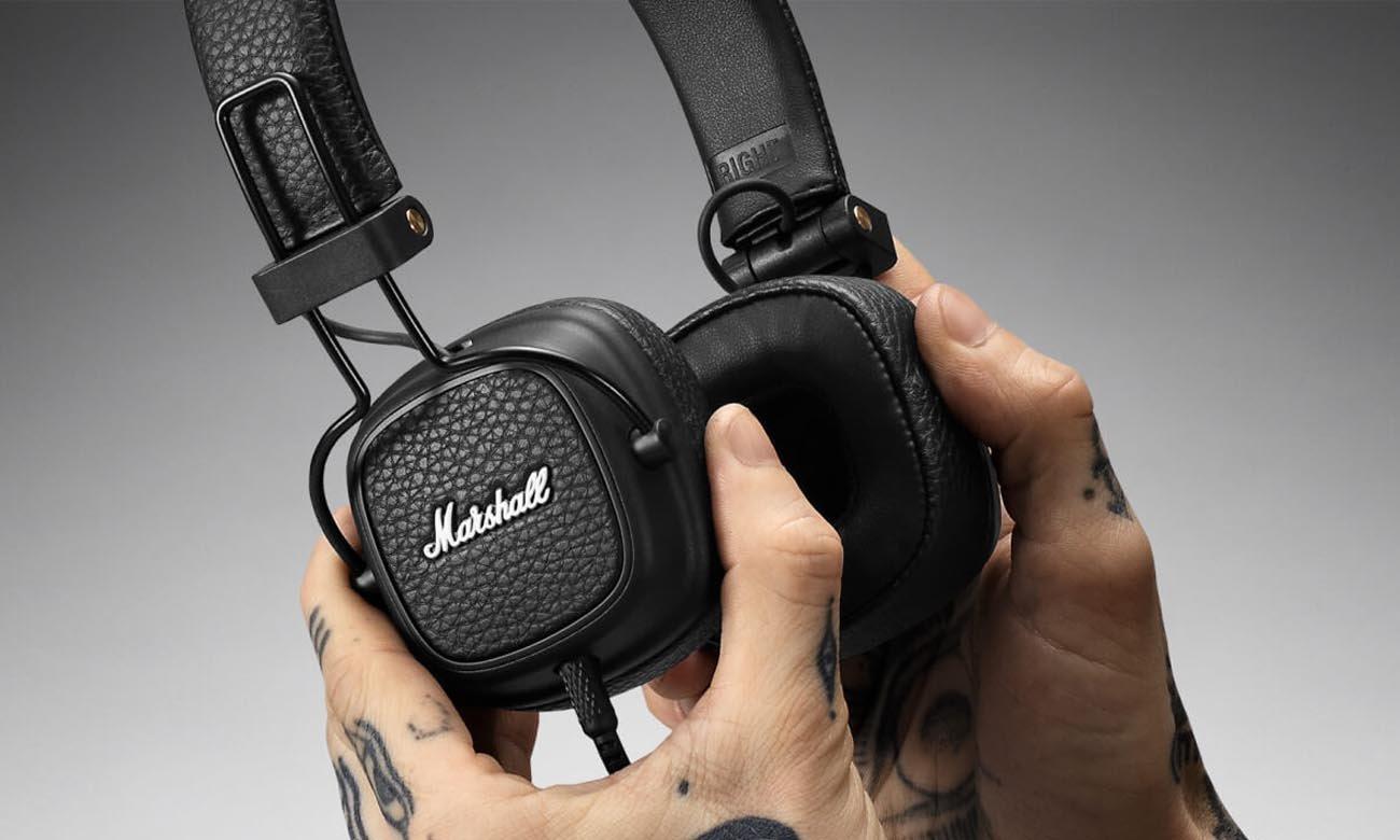 Dźwięk w słuchawkach Marshall Major III czarne